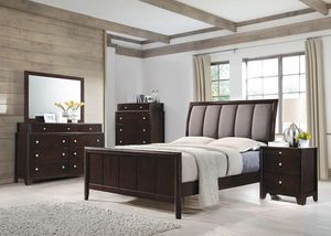 (Brand New In Boxes) Queen Size Cappuccino Bedroom Set for Sale in Atlanta, GA