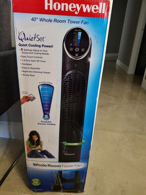 Honeywell Quietset Whole Room Tower Fan for Sale in Fort Lauderdale, FL