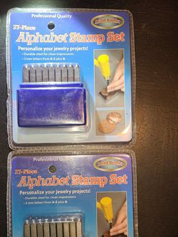 27pc ALPHABET STAMP SET (LOT OF 2) for Sale in Modesto,  CA