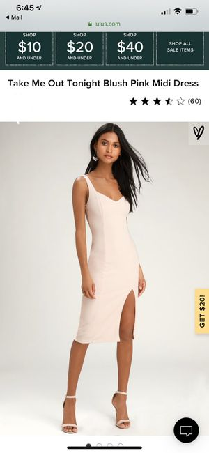 BRAND NEW Blush Pink Dress (Lulu's) for Sale in Weymouth, MA