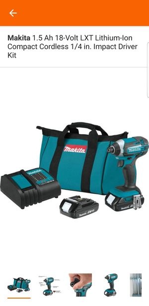Makita 1.5 Ah 18-Volt LXT Lithium-Ion Compact Cordless 1/4 in. Impact Driver Kit for Sale in Sacramento, CA
