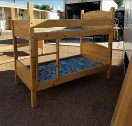$100$ OBO Solid Oak Bunk Beds for Sale in West Jordan,  UT