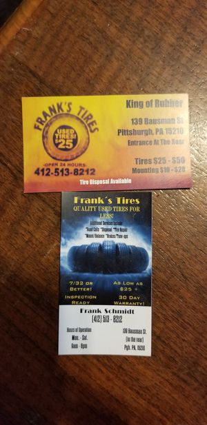 Frank's used tires 4 less for Sale in Pittsburgh, PA