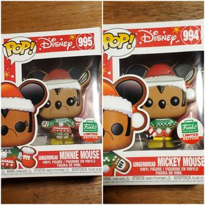 Gingerbread Mickey & Minnie Mouse Limited Edition Exclusive Funko Pop Bundle for Sale in Denver, CO