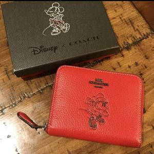 Disney x Coach red wallet small for Sale in Sterling, VA