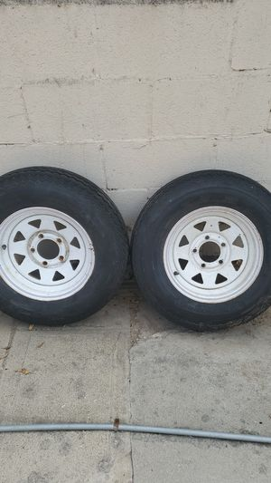 5 lug trailer tires. for Sale in Los Angeles, CA