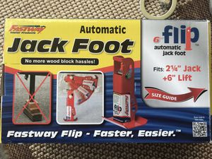 """Fastway Flip Automatic Fold-Up Jack Foot for 2"""" Jacks - 6"""" Extension - 1,400 lbs for Sale in Fort Leonard Wood, MO"""