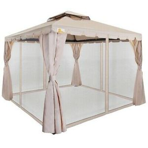 10ft x 10ft Deluxe Gazebo with Mosquito Mesh Sides Outdoor Use for Sale in Los Angeles, CA