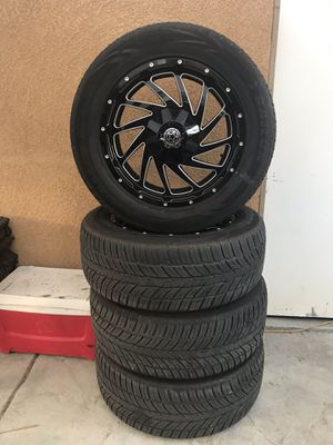 """Rims """"20"""" 6 lug for a suburban, Tahoe or pickups for Sale in Riverside, CA"""