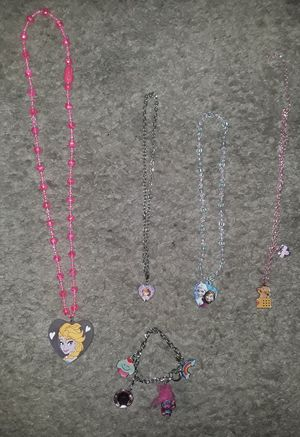 Girls Frozen Doc McStuffin Sofia the First necklaces and troll bracelet lot for Sale in Spring Hill, FL