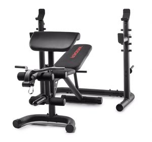 XRS 20 Olympic Workout Bench with Independent Squat Rack and Preacher Pad InHand for Sale in Randolph, MA