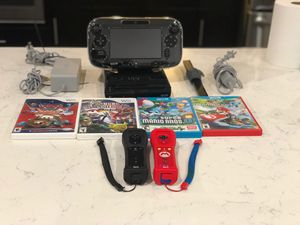 Nintendo Wii U with games shown. Super MARIO 3D world also included for Sale in Lake Mary, FL