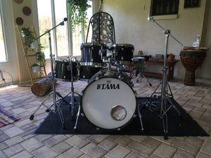 TAMA Starclassic Birch drum set w/ double pedal, hardware, etc for Sale in Riverview, FL