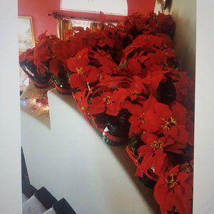 Ponsietta Artificial flower pot for Sale in Victorville, CA