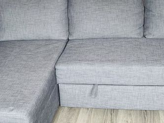 Sleeper sectional,3 seat w/storage, Skiftebo dark gray for Sale in Renton,  WA