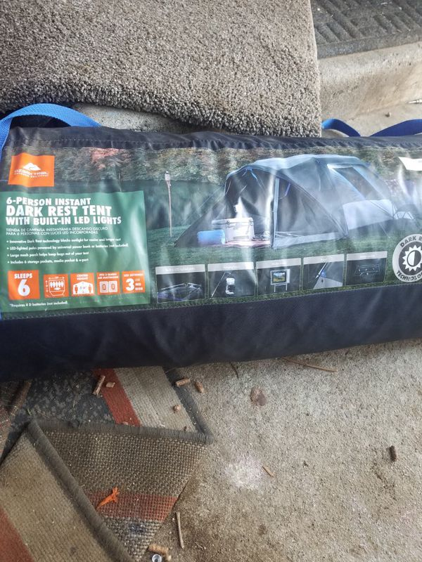 6 person tent with built-in LED lights