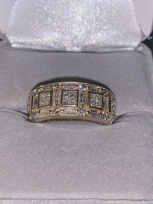 2. 14KT, 6.80 Grams; Ring W 20 Princess cut, 14 baguette & 8-RID DIA for Sale in Vancouver, WA