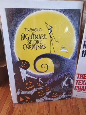 The Nightmare Before Christmas Poster for Sale in Greer, SC
