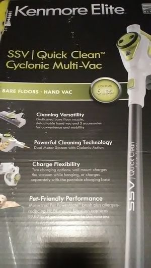 Kenmore Elite SSV Quick Clean Cyclonic Vacuum for Sale in Balch Springs, TX
