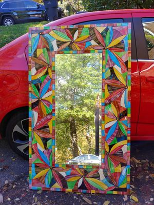 Stained glass mirror for Sale in Roanoke, VA