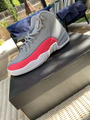 BRAND NEW! AIR JORDAN 12 RETRO / wolf grey/Racer Pink-Black / Size 6.5Y for Sale in Palmdale, CA