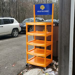Banana Boat plastic cart on wheels casters for Sale in Glenview, IL