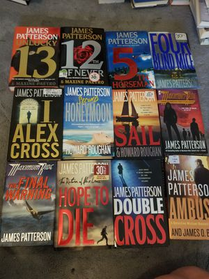 James Patterson books for Sale in Rialto, CA