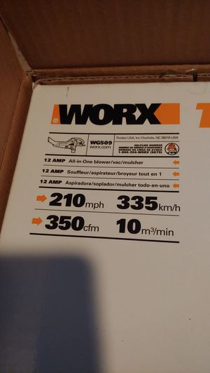 Worx Trivac combination leaf blower, vacuum and mulcher for Sale in Silver Spring, MD