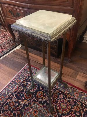 Antique Bronze and Marble Table Stand for Sale in San Diego, CA