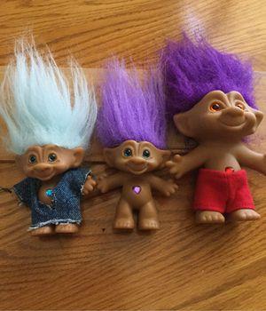 Troll Dolls - set of 3 for Sale in El Dorado Hills, CA