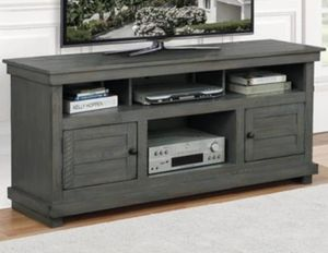 """Antique grey TV stand (60"""") for Sale in San Leandro, CA"""
