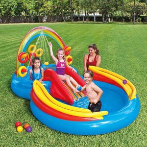 """Intex Rainbow Ring Inflatable pool Play Center with Sprayer, 117"""" x 76"""" x 53"""" for Sale in Miami, FL"""