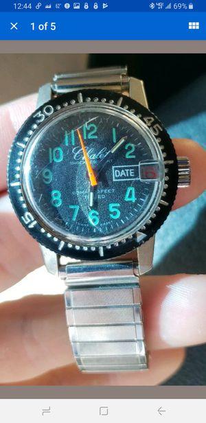 Vintage Chalet Swiss Diver Hand Wind Men's Wrist Watch Running for Sale in Milford, CT
