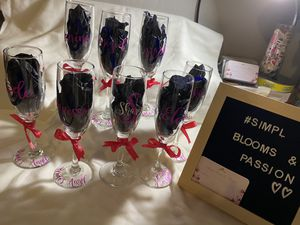 Personalized champagne flutes for Sale in Compton, CA