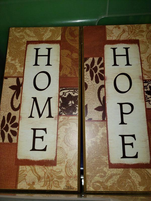 """HOME"" & ""HOPE"" Wall decor"