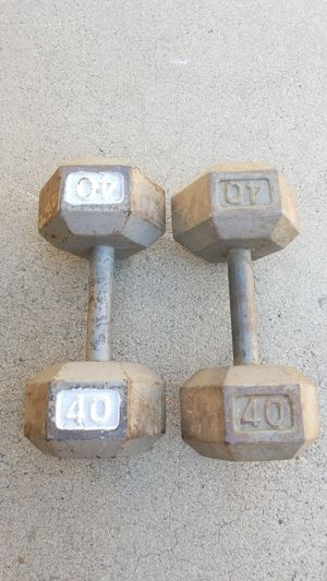 40lb hex dumbbells. Westminister or Ontario for Sale in Montclair, CA