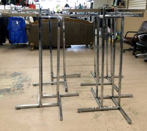 4 way clothing racks,retail commercial used great condition have about 15 of them make your best offer for Sale in Bolingbrook, IL