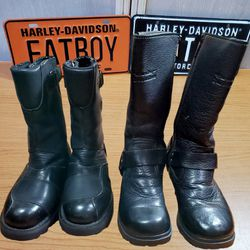 Harley Davidson Women's Soft Leather Boots 6 And 6 1/2 for Sale in La Grange,  IL