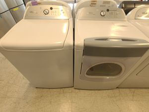 Whirlpool tap load washer and electric dryer set used in good condition with 90 days warranty for Sale in Frederick, MD