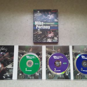Mike Portnoy Instructional Drummer DVD Set - In Constant Motion for Sale in Sarver, PA