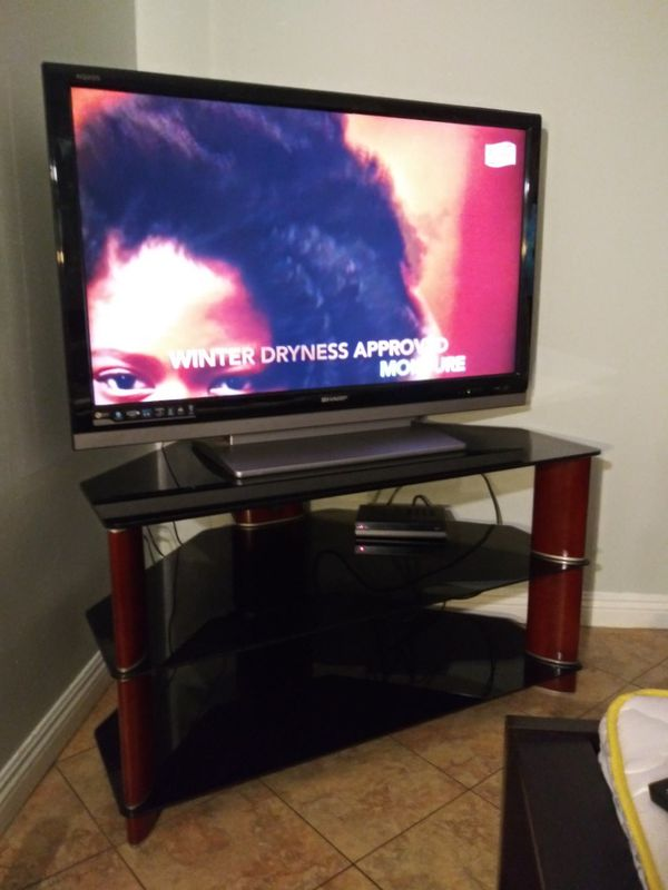 Sharp Aquos 50 in and TV stand