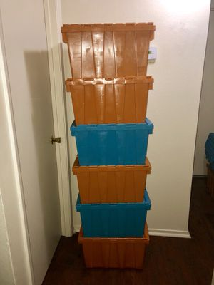 Stackable Sturdy Container Bins / Storage Totes for Sale in Las Vegas, NV