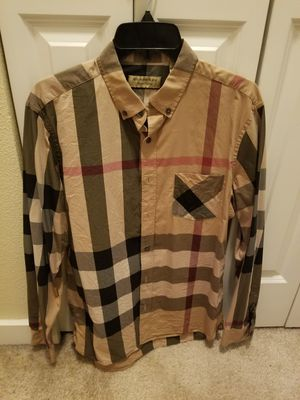 Burberry Camel Men's shirt( Size L) 100% Authentic! for Sale in Kirkland, WA