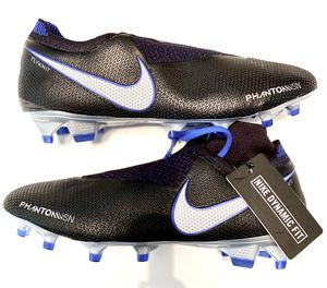 Nike Phantom VSN Vision Elite DF FG Soccer Cleats Black/Blue AO3262-004 for Sale in Zachary, LA