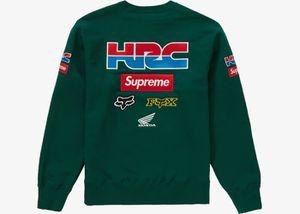 Supreme X Honda Racing company crewneck size medium green for Sale in Alexandria, VA