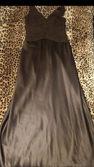 Brown long Adrianna Papell dress with lil mid sleeve jacket . for Sale in Falls Church, VA