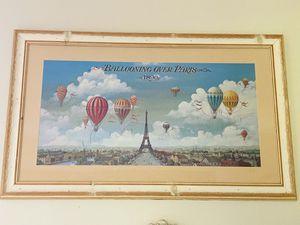 """Framed art Balloons Over Paris - 41""""x 25"""" for Sale in Stuart, FL"""