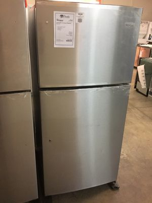NEW! Whirlpool Stainless Steel 19 CuFt Top Mount Refrigerator Fridge for Sale in Chandler, AZ
