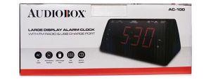 "Audiobox Alarm Clock 1.8"" Large Led Display With FM Radio and USB Port Reloj Despertador Pantalla Grande AC-100 for Sale in Miami, FL"
