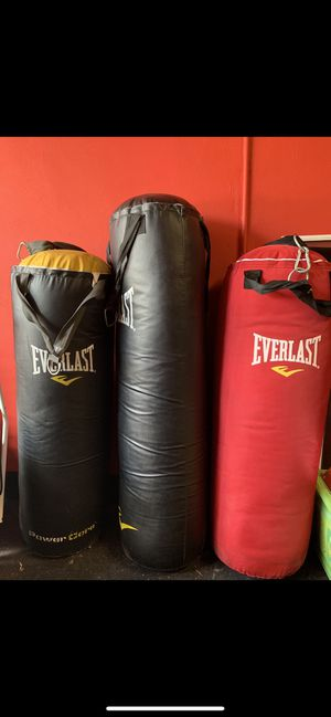 Everlast punching bags for Sale in Davie, FL
